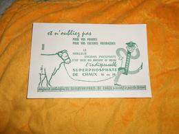 BUVARD ANCIEN DATE ?. / SUPERPHOSPHATE DE CHAUX 16 OU 18 %.... - Buvards, Protège-cahiers Illustrés