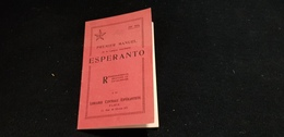 Livre 1è Manuel De La Langue ESPERANTO Cachet Distributeur SATAMIKARO LIBROSERVO 115 BD A BRIAND MONTREUIL Pêche Ligne - Dictionaries