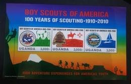 O)2010 UGANDA, SCOUTS-JAMBOREE,    EXPERIENCES FOR AMÉRICA YOUTH..MNH - Uganda (1962-...)