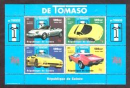 1998 - Voitures Italiennes De Tomaso - Guinée N° 1351 à 1354 En Feuillet - Neuf ** - Voitures