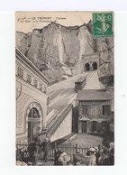Le Tréport. Terrasse. La Gare Et Le Funiculaire. (2915) - Seilbahnen