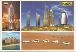 DUBAI Landmarks & Desert, Carte Postale Neuve Non Circulée - Emirats Arabes Unis
