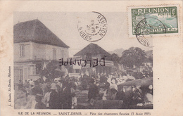Ile De La Réunion-SAINT-DENIS - FÊTE Des CHARRETTES FLEURIES (3 Août 1919)-Edit. L. DOSITE,St-Denis-Ecrite-Timbrée- - Saint Denis
