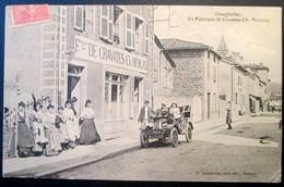 71  Rare  CHAUFFAILLES  La Fabrique De Cravattes De CH NICOLAS  Usine  Entrée Des Ouvrières 1906 - France