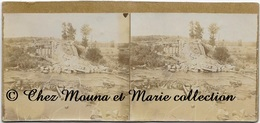 WWI PONT SUR LA DOLLER - VOIE FERREE ENTRE CERNAY ET MASEVAUX - BOMBARDEMENT - HAUT RHIN - PHOTO STEREO 12.5 X 6 CM - Guerre, Militaire