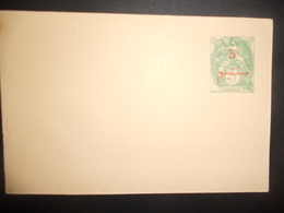 Maroc Entier Postal Type Blanc Surcharge - Morocco (1891-1956)