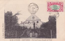 Ile De La Réunion-SAINT-DENIS - Notre-Dame Des VICTOIRES (Chapelle Des Frères)-Edi. L. DOSITE,St-Denis-Timbrée-2Cachets - Saint Denis