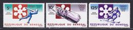 SENEGAL AERIENS N°  113 à 115 ** MNH Neufs Sans Charnière, 125f Dent Manquante (D7368) Sports, Jeux Olympiques, Sapporo - Sénégal (1960-...)