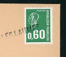 """FRANCE - CACHET ANNULATION  """" 21- LES LAUMES """" SUR BEQUET 0,60 VERT - Marcophilie (Lettres)"""