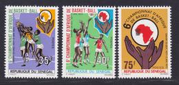 SENEGAL N°  358 à 360 ** MNH Neufs Sans Charnière, TB (D7368) Sports, Championnats D'Afrique De Basket-ball - Senegal (1960-...)