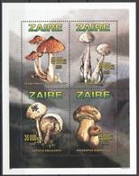 Zaire 1996 OCBnr. Bloc 74 *** MNH  Cote 26,50 Euro Flore Champignons Paddestoelen Mushrooms - Zaire