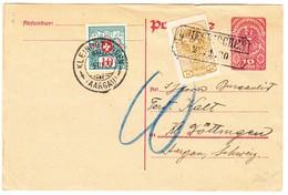 1920 Ganzsache Vom Tierarzt Von Grieskirchen Nach Kleindöttingen, Strafporto In Der Schweiz, Bedarfsspuren - Ganzsachen