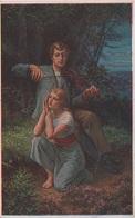 Künstlerkarte AK Adolf Liebscher Heimweh Nostalgie Kde Domov Muj Kunst Art Malerei Prag Praha Cesky Ceska Tchequie - Künstlerkarten
