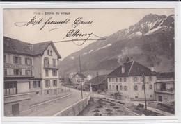 Broc. Entrée Du Village. Pension Bellevue. Attelage - FR Fribourg