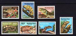 Burkina Faso 1985 Reptiles Amphibians Snakes Frog Chameleon Lizards Tortoise Turtles Animals Stamps MNH SG#773-778 - Burkina Faso (1984-...)
