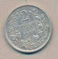België/Belgique 2 Fr Leopold II 1909 Vl Morin 197 (87525) - 08. 2 Francos