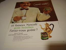 ANCIENNE PUBLICITE GOUT BRESILIEN  NESCAFE 1961 - Posters