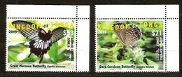 Tonga 2015 Yvertn° LP PA 309-310 *** MNH Cote 220 Euro Faune Papillons Vlinders Butterflies - Tonga (1970-...)