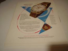 ANCIENNE PUBLICITE MONTRE LONGINES FLAGSHIP 1960 - Bijoux & Horlogerie