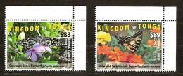 Tonga 2016 Yvertn°  1464A-B*** MNH Cote 162,50 Euro Faune Papillons Vlinders Butterflies - Tonga (1970-...)