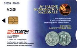 *ITALIA: 56° SALONE NUMISMATICO - RICCIONE* - Scheda A Chip Usata - Italie