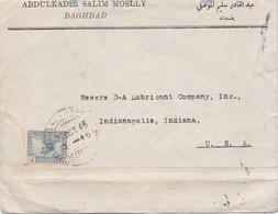 ABDULKADIR SALIM MOSLLY. CIRCULEE BAGHDAD TO INDIANA(USA) 1945. IRAQ.-BLEUP - Irak