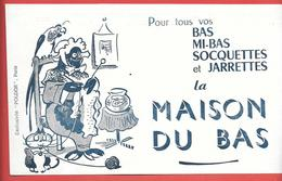 """Buvard Ancien Rare  MAISON DU BAS,JARRETTES -""""POLDOR"""" PARIS Pingouin Habillé Qui Tricote,perroquet,chat -surrealisme - Textilos & Vestidos"""