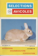 SELECTIONS AVICOLES AVICULTURE COLOMBICULTURE CUNICULTURE NOVEMBRE 1988 N° 274 - Animals