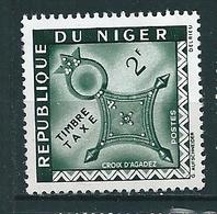 N°  24 Timbre  Taxe  Croix D'Agades Timbre Niger 1962 2f Oblitéré - Nigeria (1961-...)