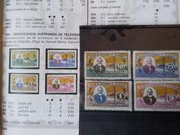 6119-SERIE COMPLETA AÑO 1944 Nº26/9 .30,00€ NUEVOS ** HUERFANOS DE CORREOS Y TELEGRAFOS,FISCALES,LOCALES SPAIN REVENUE L - Beneficenza