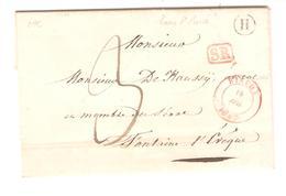 LAC écrit De Haine  St.Pierre Boîte H SR Encadré Service Rural C.Binche 19/7/1843 V.Fontaine L'Evêque 1888 - 1830-1849 (Belgique Indépendante)