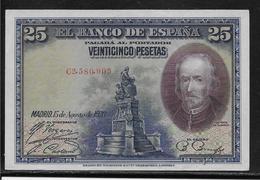 Espagne - 25 Pesetas - 1928 - Pick N°74 - SPL - [ 2] 1931-1936 : Republiek