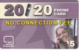 TARJETA DE CANADA DE $5 DE 9 TELECOM - Canada