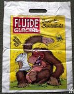 SAC FLUIDE GLACIAL EN PLASTIQUE PUBLICITAIRE GOTLIB 31X 41cm SACCUPLASTIKOPHILE COLLECTIONNEUR PUBLICITE - SITE Serbon63 - Publicités