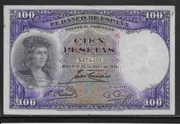 Espagne - 100 Pesetas - 1931 - Pick N°83 - TTB - [ 2] 1931-1936 : Republiek