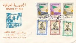 FDC. REPUBLIC OF IRAQ-ARMY DAY 1961.-BLEUP - Irak