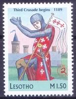 L9m- Third Crusade Begins 1189, War, Millennium, Lesotho 1999 MNH - 1. Weltkrieg