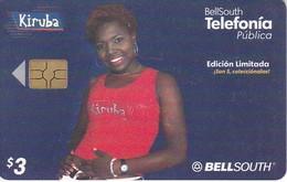 TARJETA DE ECUADOR DE BELLSOUTH DE $3  DE UNA MUJER (WOMAN) KIRUBA - Ecuador