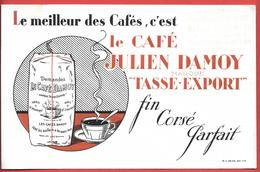 Buvard Ancien Lithographié- CAFE JULIEN DAMOY - TASSE EXPORT -alimentation Maison G.GAMASTIN à SOTTEVILLE LES ROUEN - Coffee & Tea