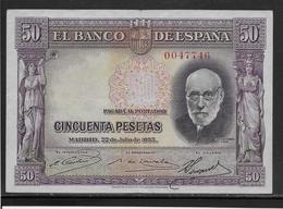 Espagne - 50 Pesetas - 1935 - Pick N°88 - SUP - [ 2] 1931-1936 : République