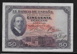 Espagne - 50 Pesetas - 1927 - Pick N°72 - TTB - 50 Pesetas