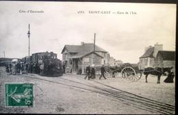 22  SAINT CAST   Gare De L'Isle   Arrivée Du Train à Vapeur  1912 - Saint-Cast-le-Guildo