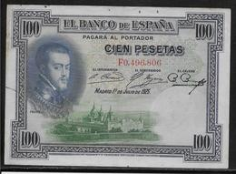 Espagne - 100 Pesetas - 1925 - Pick N°69 - TB - [ 2] 1931-1936 : Repubblica