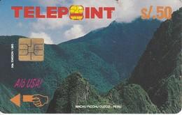 TARJETA DE PERU DE TELEPOINT DE MACHU PICHU (PUZZLE)  SATELITE-SATELLITE - Peru