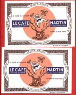 2 Buvards Anciens LE CAFE EUGENE MARTIN à PARIS -  Belle Illustration D'après CAPPIELLO - Coffee & Tea