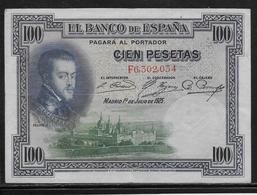 Espagne - 100 Pesetas - 1925 - Pick N°69 - TTB - [ 2] 1931-1936 : Repubblica
