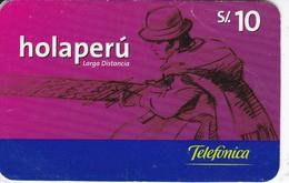 TARJETA DE PERU DE TELEFONICA HOLAPERU DE 10 SOLES DE TIRADA 360000 - Peru