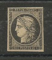 N° 3 Neuf Sans Gomme - 1849-1850 Ceres