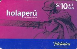 TARJETA DE PERU DE TELEFONICA HOLAPERU DE 10 + 3 SOLES DE TIRADA 223000 - Peru