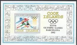 Cook Islands 1992 Yvertn° Bloc 204 *** MNH  Cote 20,00 Euro Sport Jeux Olympiques Barcelona - Cook